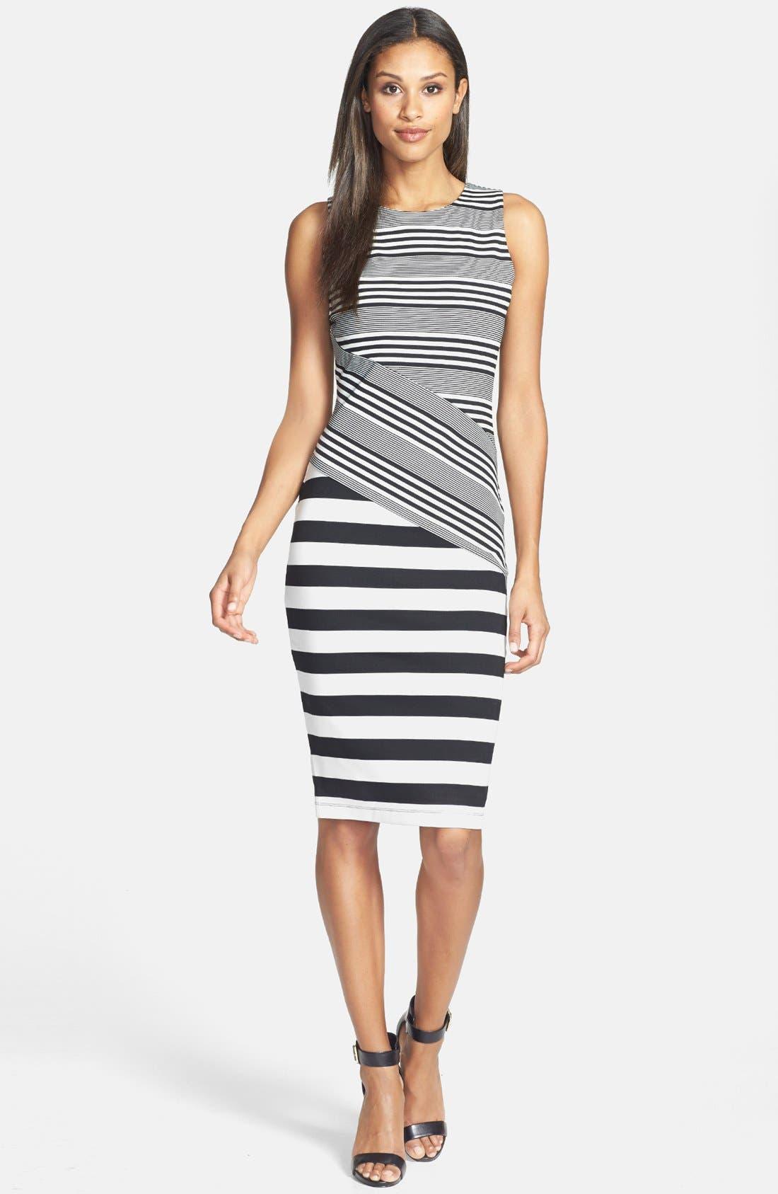 Alternate Image 2  - Felicity & Coco Stripe Ponte Midi Dress (Nordstrom Exclusive)