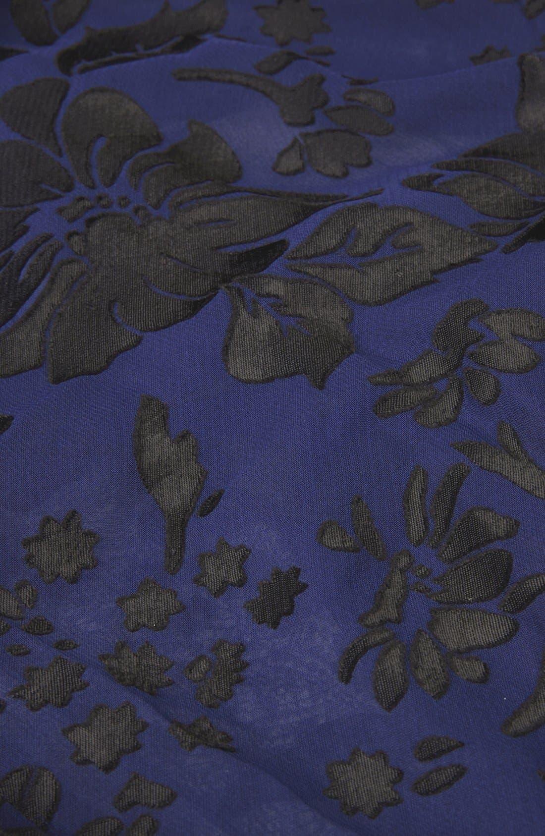Alternate Image 4  - Topshop Floral Burnout Kimono Cardigan