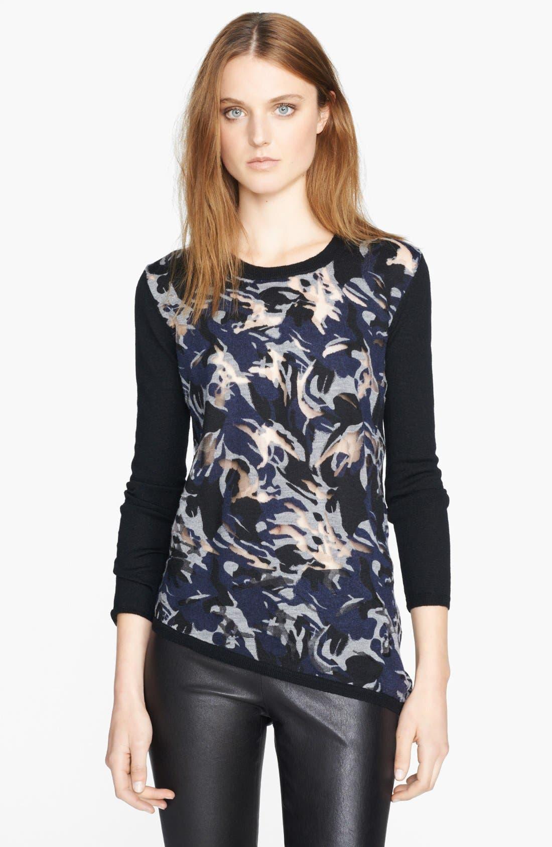 Main Image - The Kooples Burnout Asymmetrical Sweater