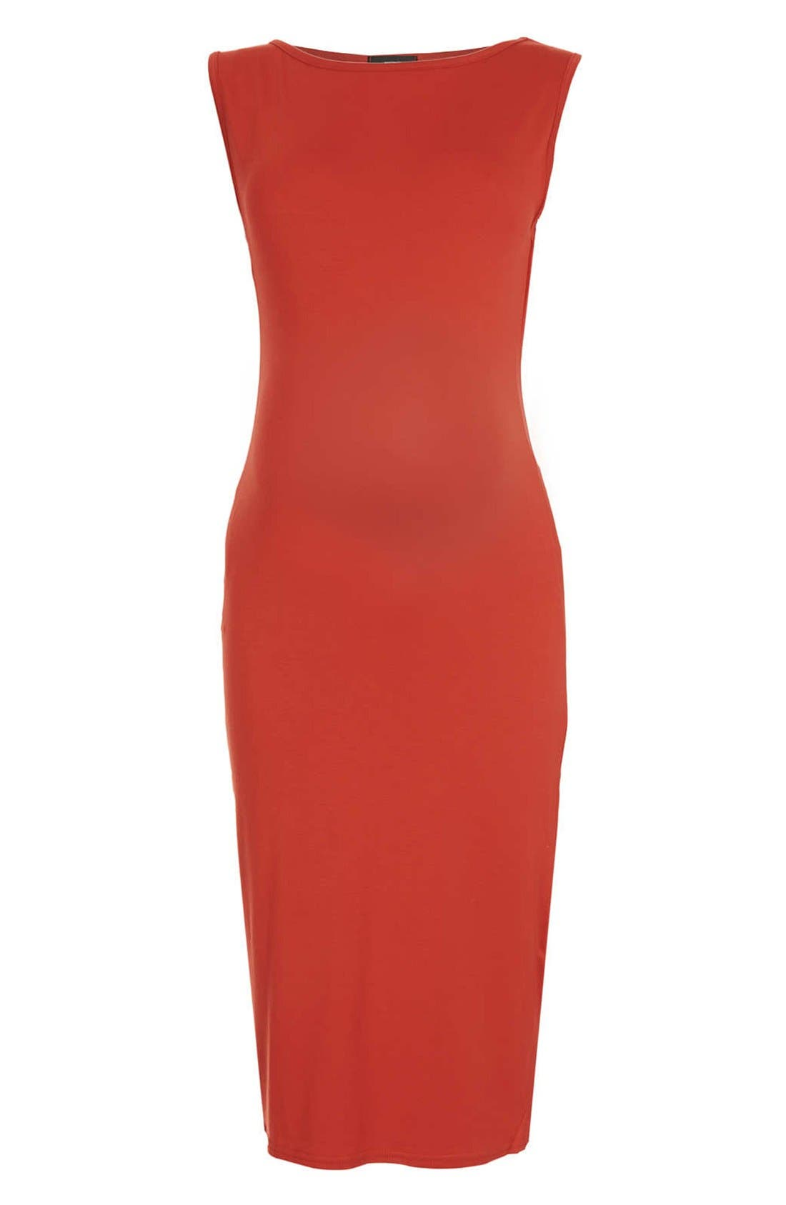 Main Image - Topshop Jersey Body-Con Maternity Dress