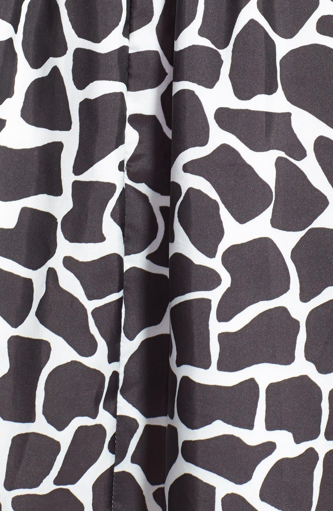 Alternate Image 4  - Aidan Mattox Sleeveless Taffeta Fit & Flare Dress