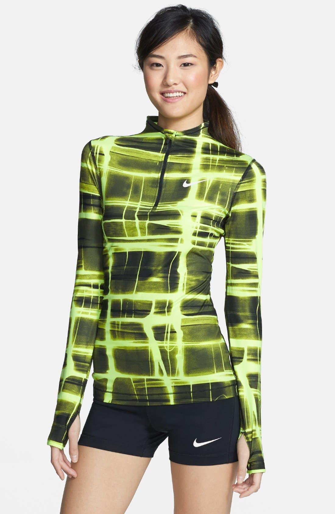 Alternate Image 1 Selected - Nike 'Pro' Dri-FIT Printed Half Zip Top