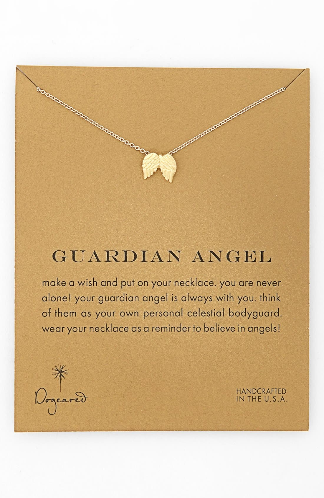 Main Image - Dogeared 'Reminder - Guardian Angel' Wings Pendant Necklace