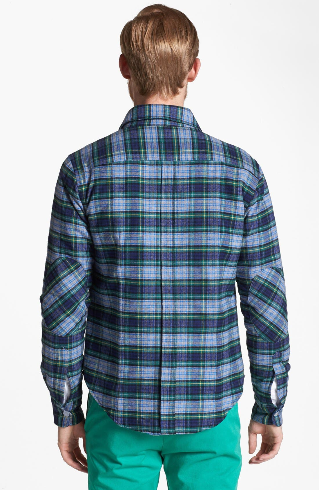 Alternate Image 2  - Band of Outsiders Lightweight Plaid Cotton Flannel Jacket