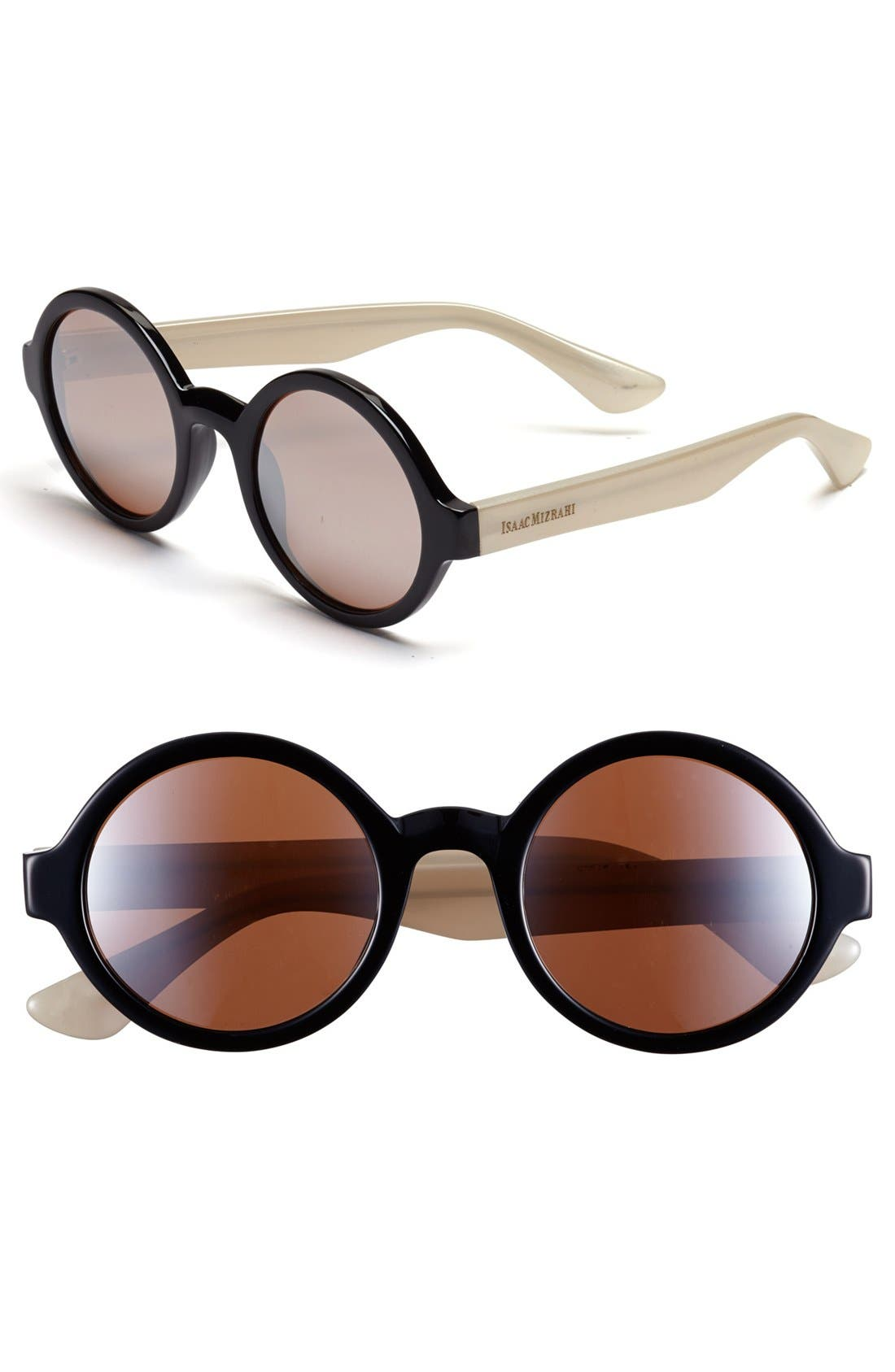 Main Image - Isaac Mizrahi New York 50mm Round Sunglasses