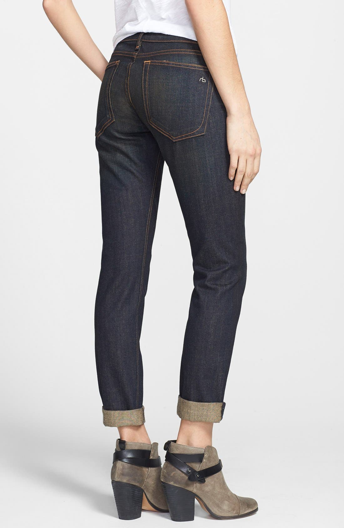 Alternate Image 2  - rag & bone/JEAN 'The Dre' Slim Fit Boyfriend Jeans (Charing)