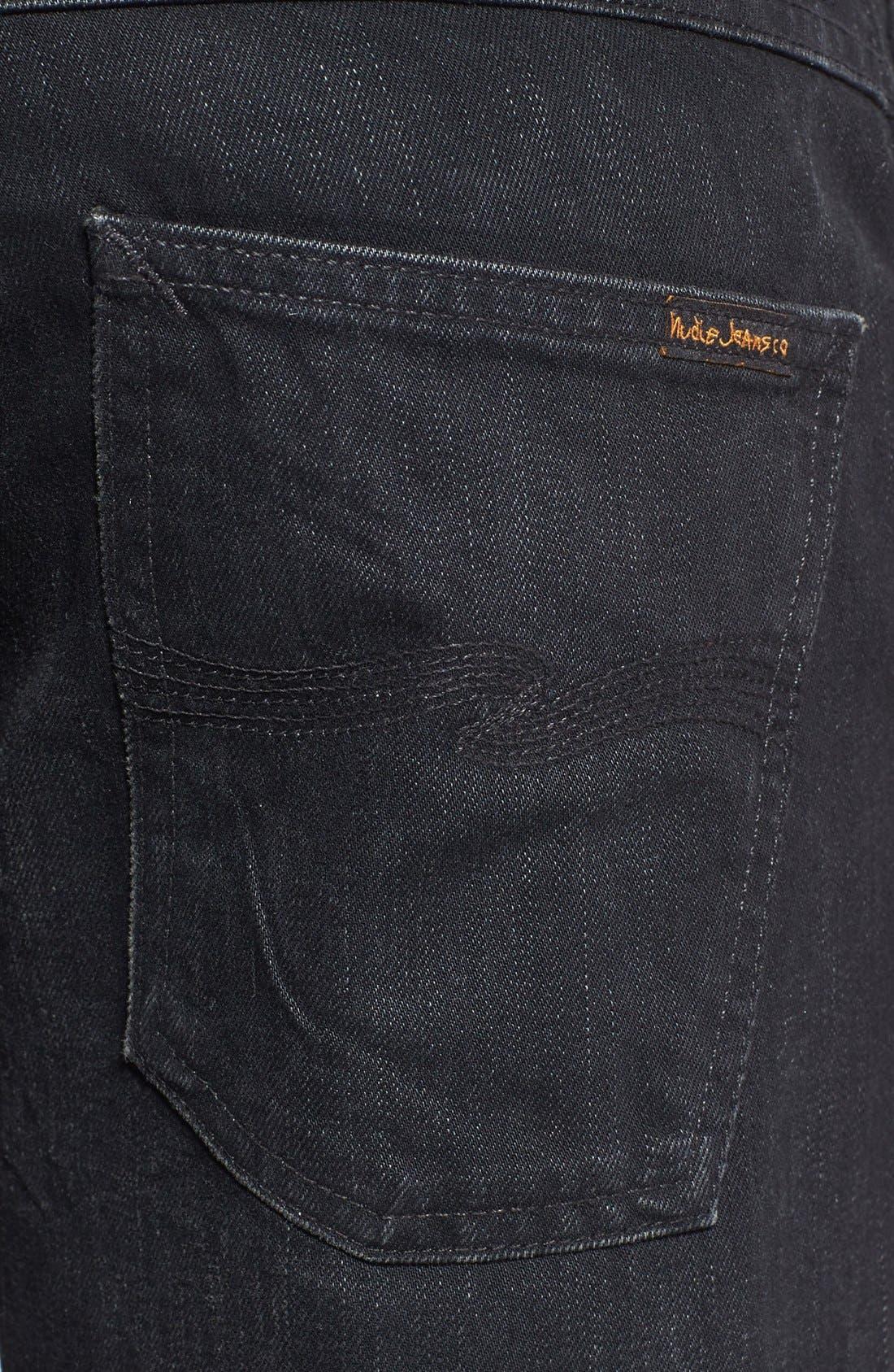 Alternate Image 4  - Nudie Jeans 'Grim Tim' Skinny Fit Jeans (Organic Black Grease)