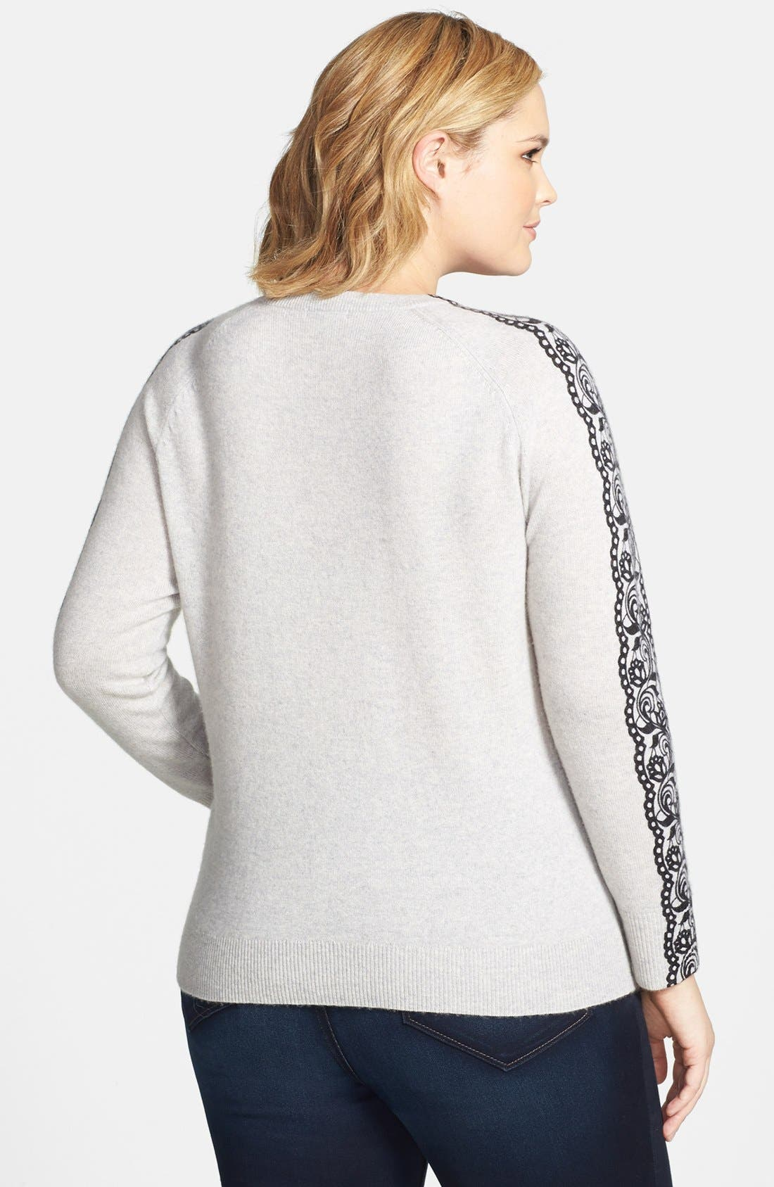 Alternate Image 2  - Halogen® Wool & Cashmere Sweater (Plus Size)