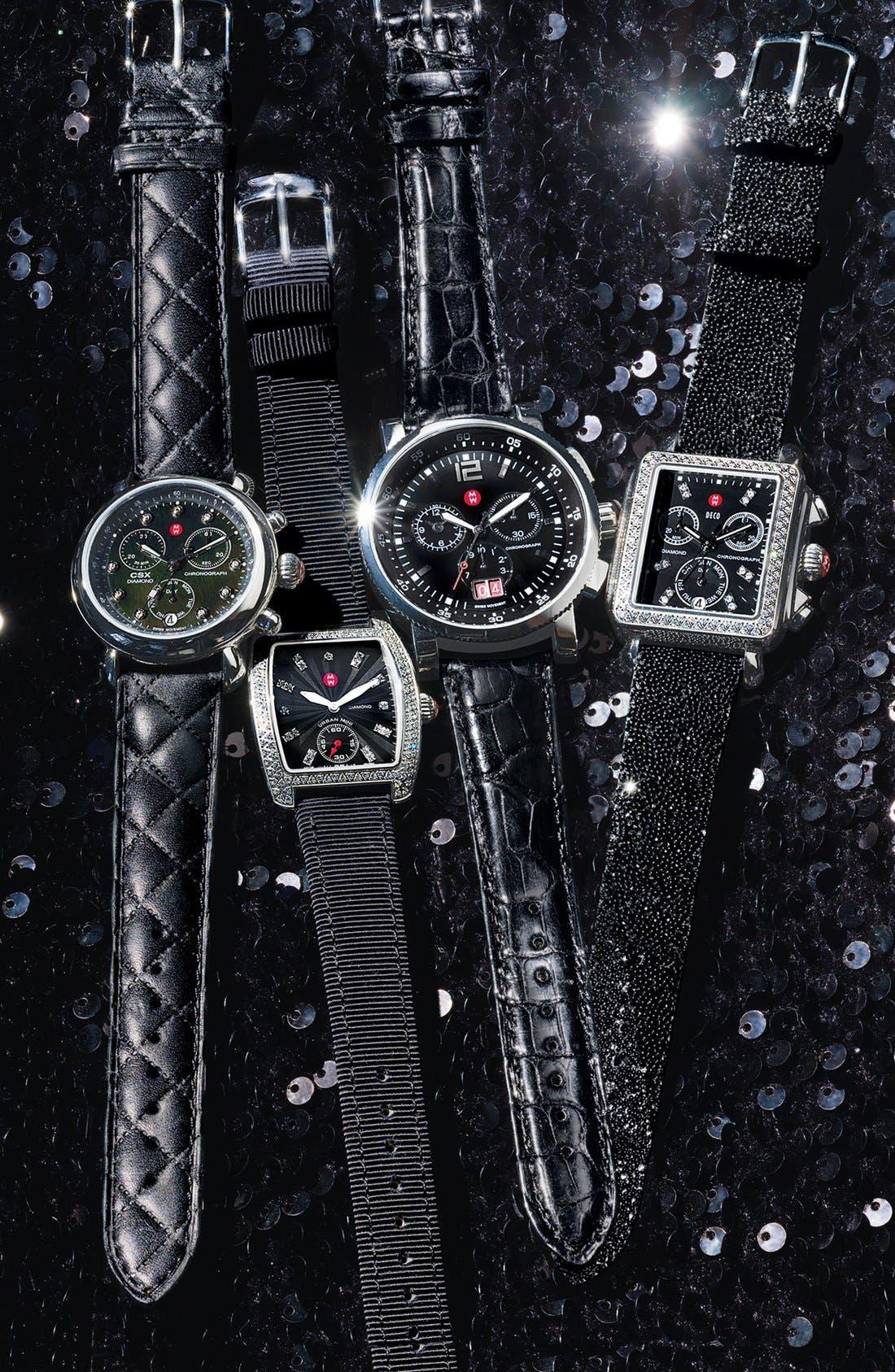 Alternate Image 2  - MICHELE 16mm Grosgrain Watch Strap