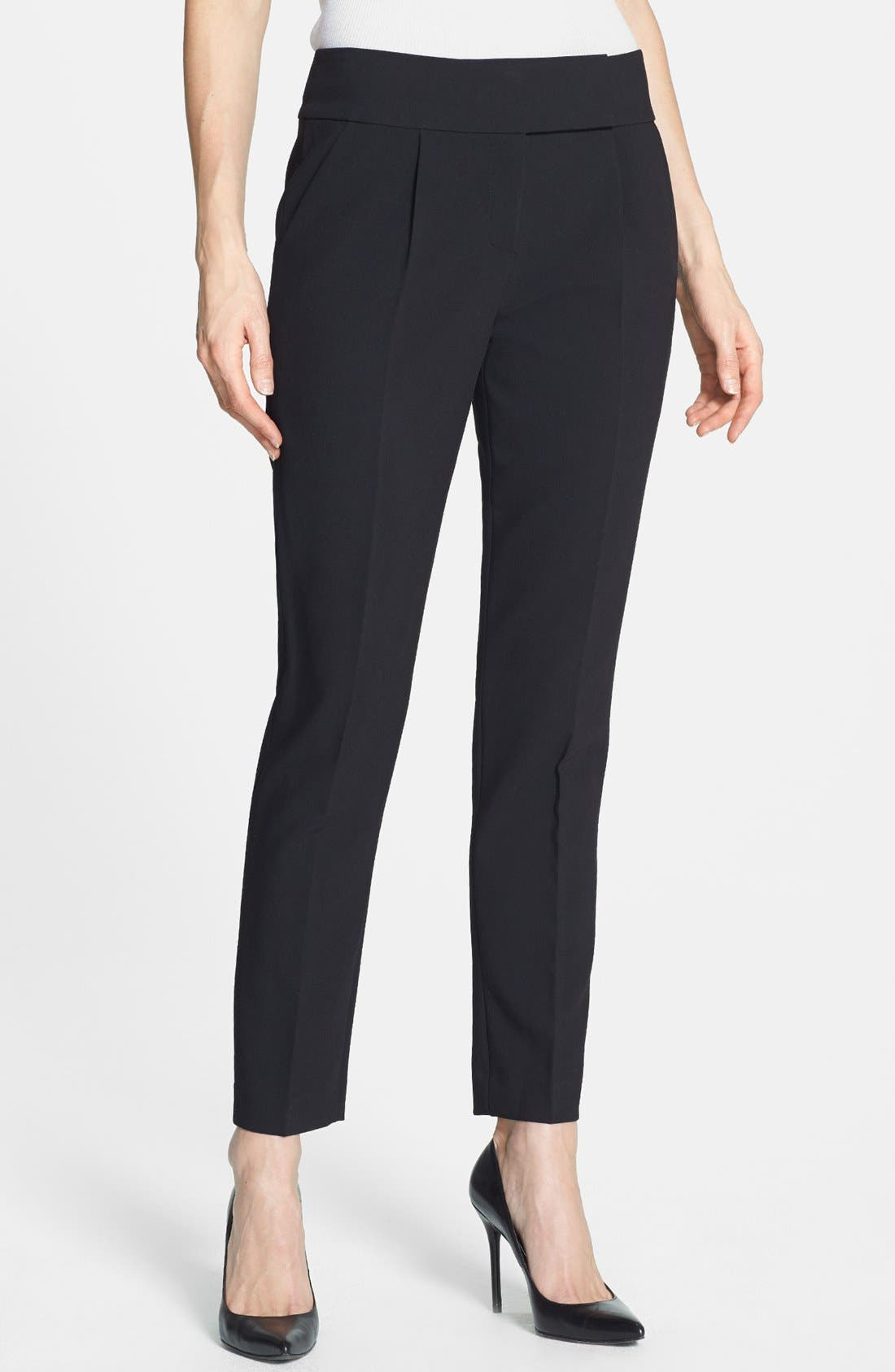 Alternate Image 1 Selected - Rebecca Taylor Crop Straight Leg Trousers