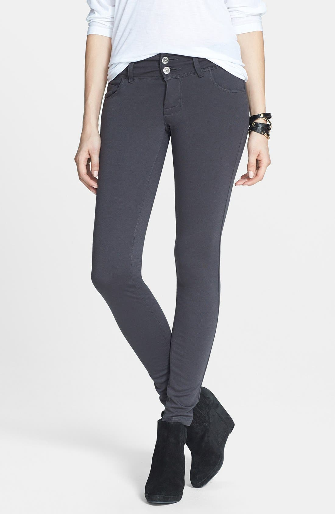 Alternate Image 1 Selected - STS Blue Skinny Ponte Pants (Juniors)