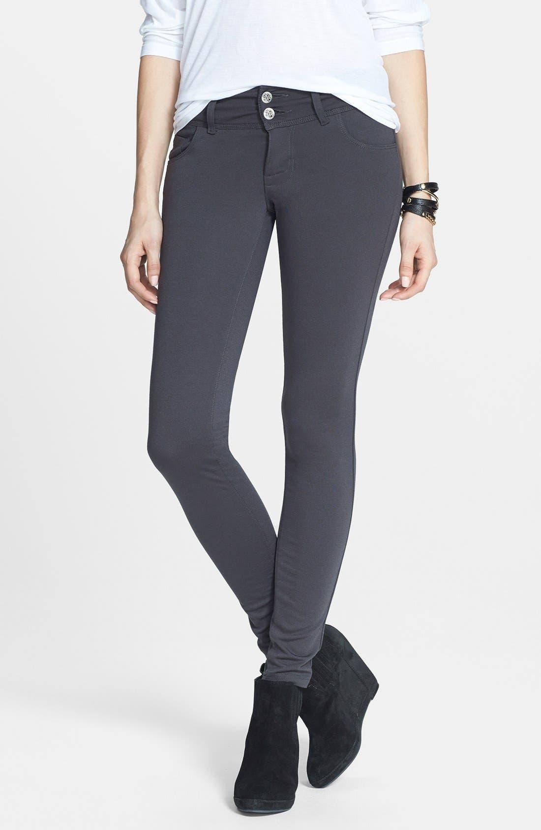 Main Image - STS Blue Skinny Ponte Pants (Juniors)