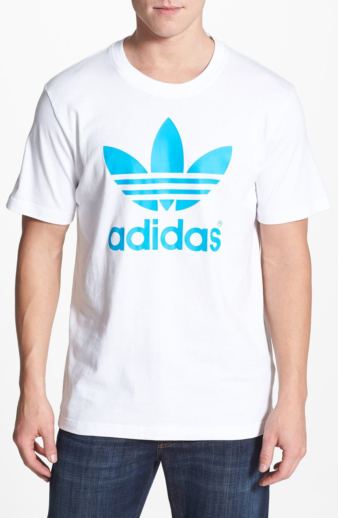Main Image - adidas Originals 'Mirror Trefoil' Crewneck T-Shirt