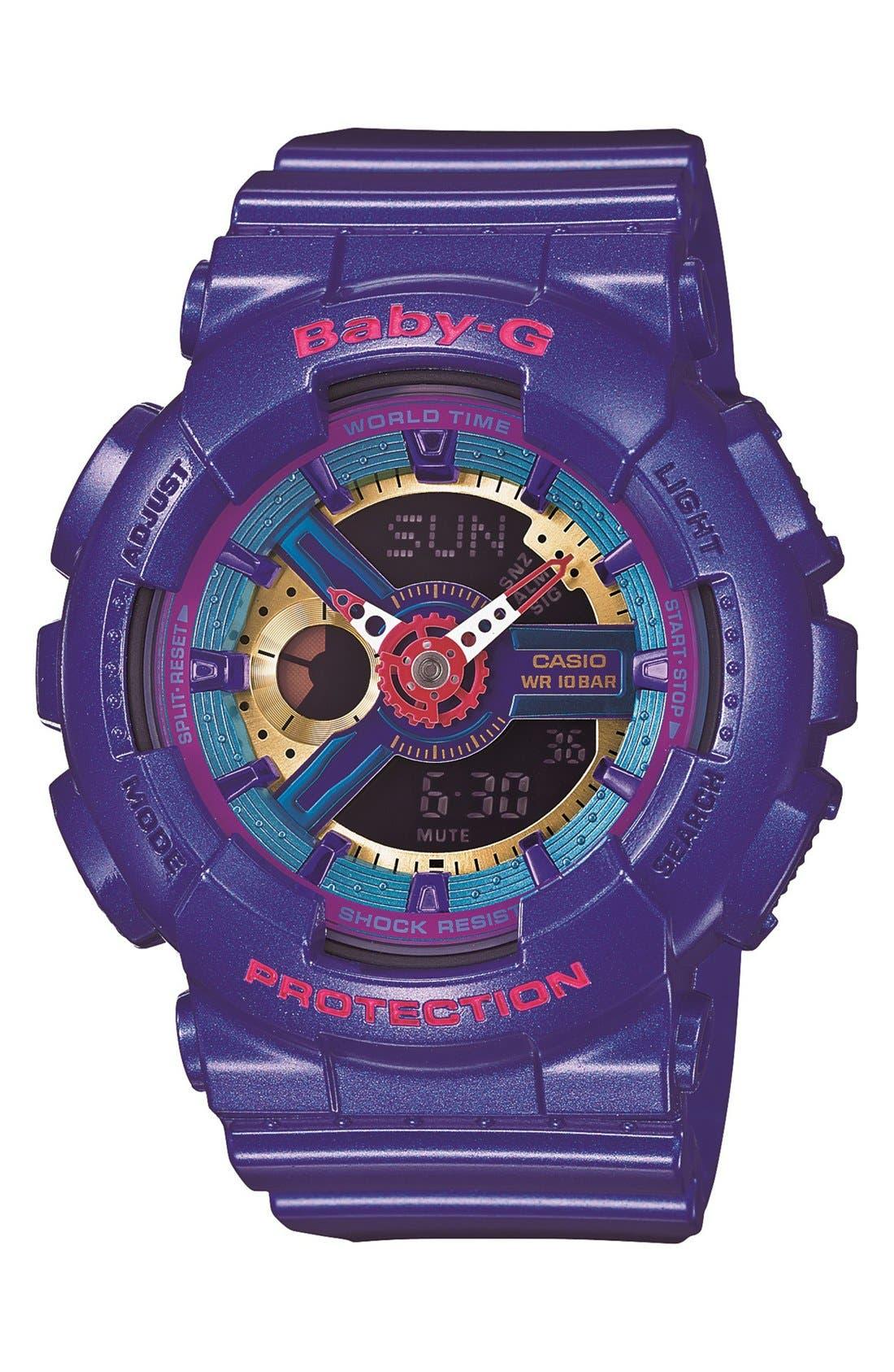 Alternate Image 1 Selected - Baby-G Round Ana-Digi Watch, 43mm
