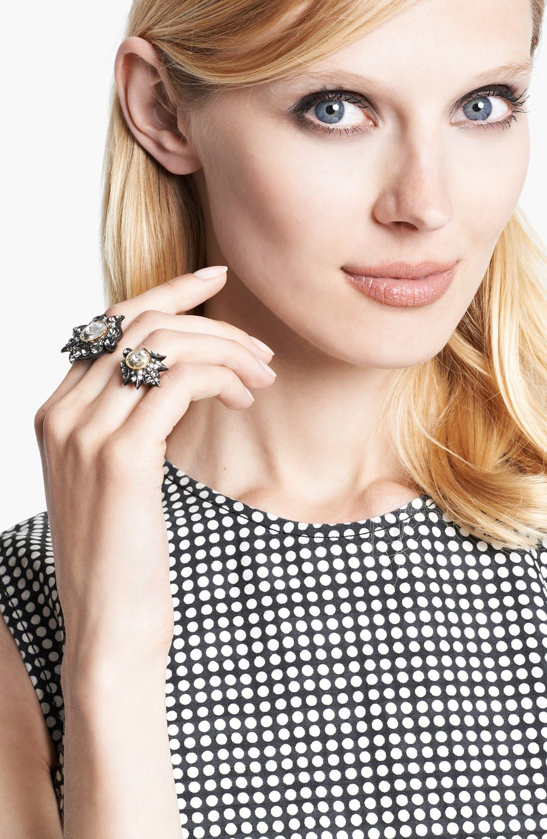 Alternate Image 1 Selected - Lanvin 'Blanche' Crystal Double Ring