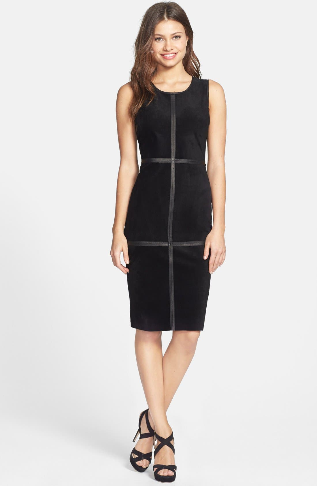 Alternate Image 2  - B44 Dressed by Bailey 44 'Kelly' Leather Trim Mixed Media Pencil Dress