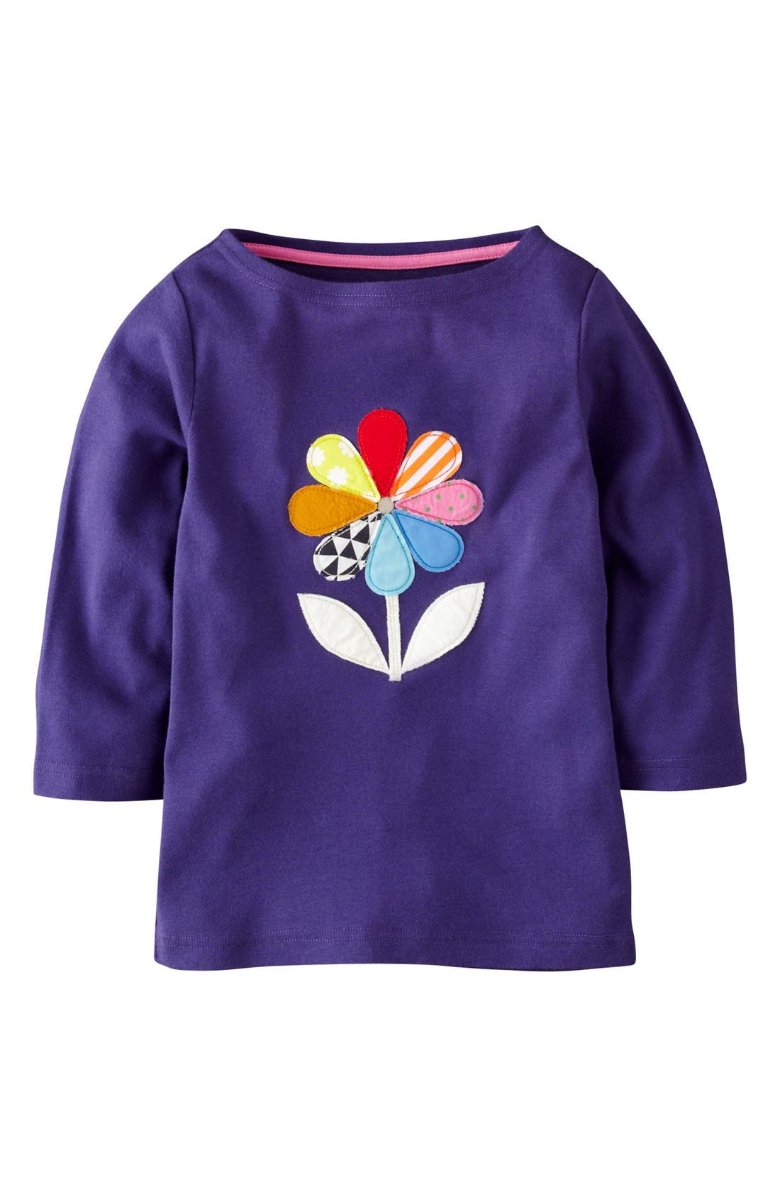 Main Image - Mini Boden 'Kaleidoscope Appliqué' Tee (Toddler Girls)
