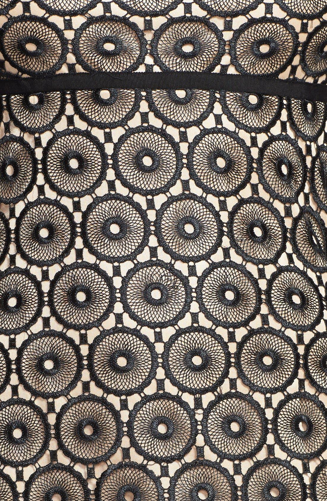 Alternate Image 3  - Laundry by Shelli Segal Eyelet Lace Fit & Flare Dress