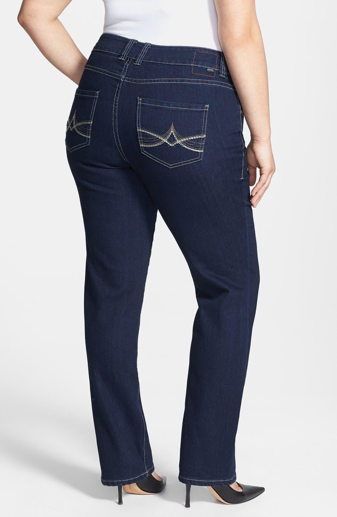 Alternate Image 2  - Jag Jeans 'Alta' Straight Leg Jeans (Plus Size)