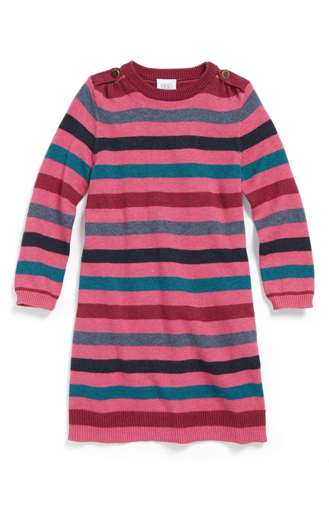 Alternate Image 1 Selected - egg by susan lazar Stripe Dress (Baby Girls)