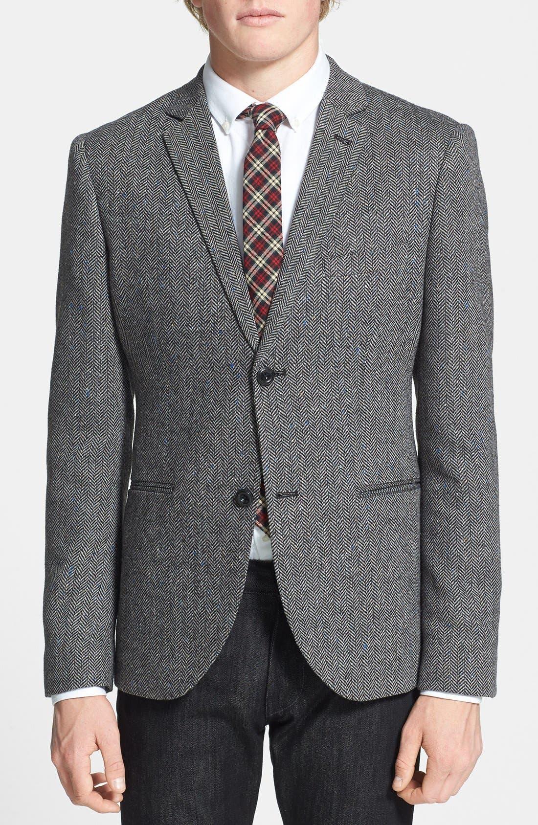 Alternate Image 1 Selected - Topman Herringbone Sportcoat