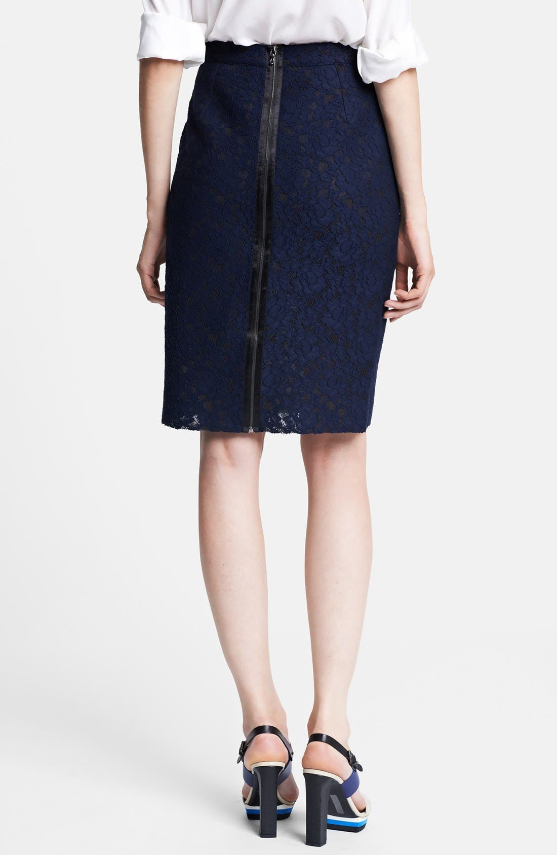 Alternate Image 2  - Lanvin Floral Lace Pencil Skirt
