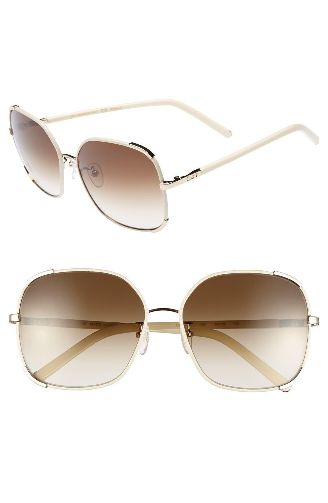 Alternate Image 1 Selected - Chloe 'Nerine' 58mm Sunglasses