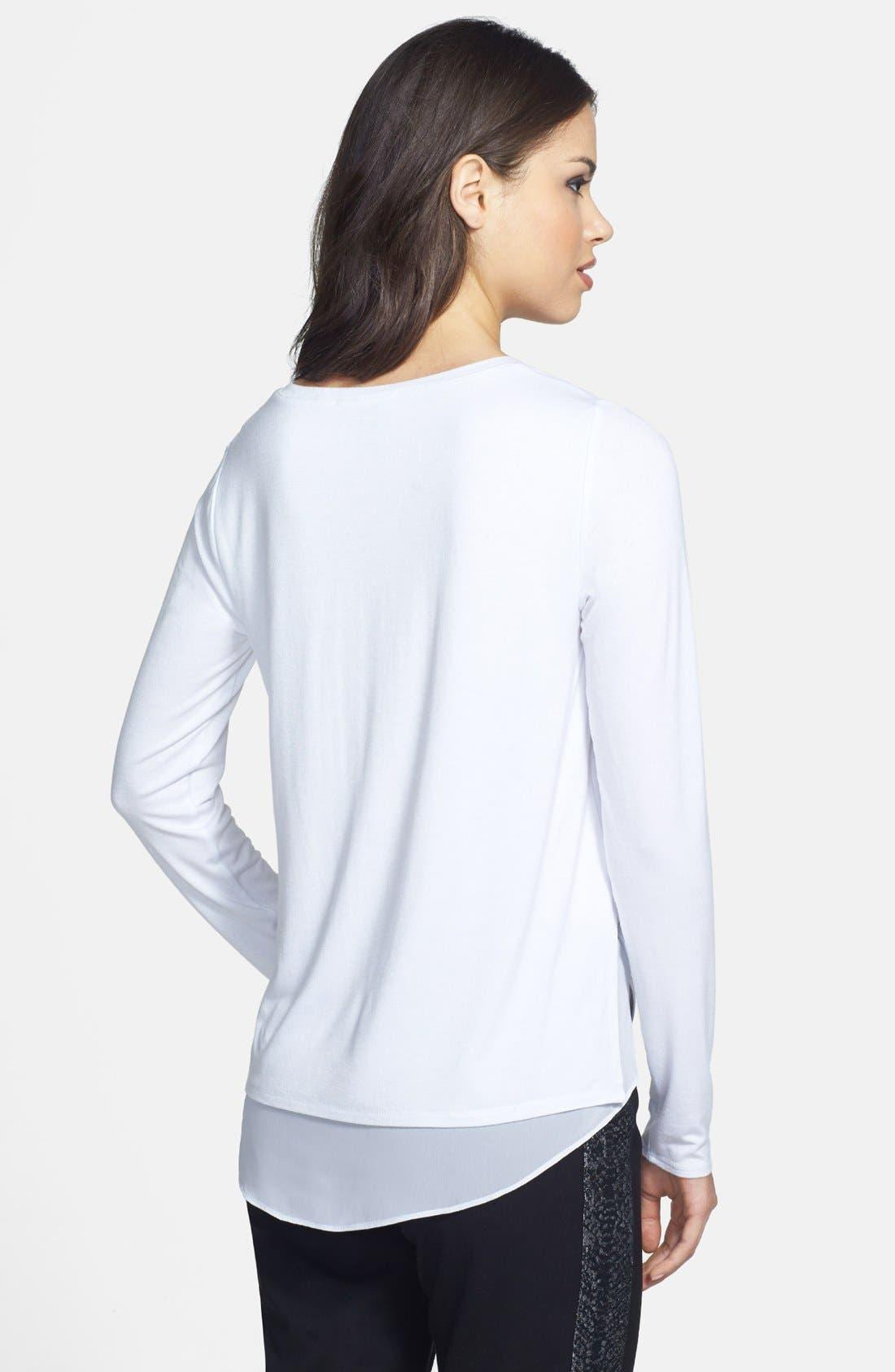 Alternate Image 2  - Kenneth Cole New York 'Jo' Shirttail Inset V-Neck Sweater