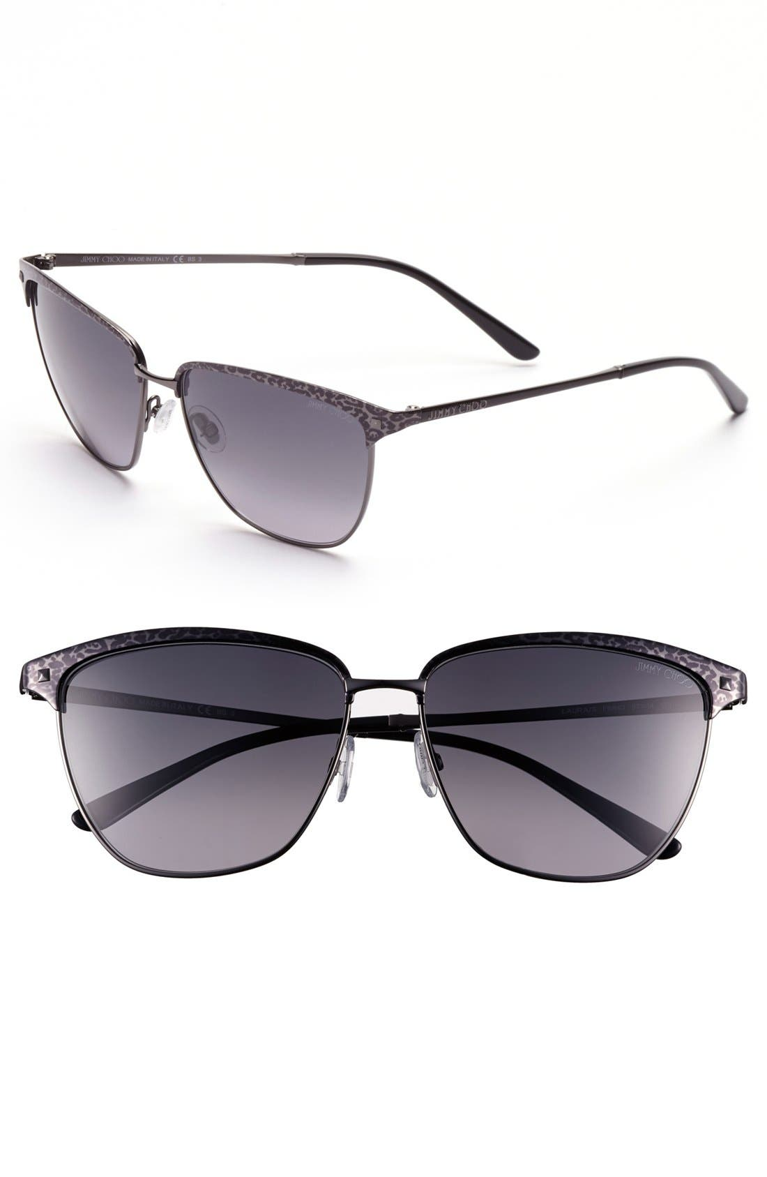 Main Image - Jimmy Choo 57mm Retro Sunglasses