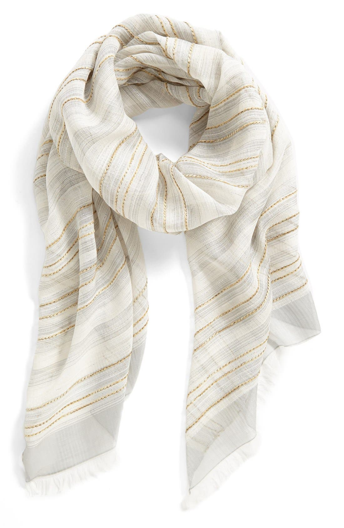 Alternate Image 1 Selected - Nordstrom Stripe Scarf