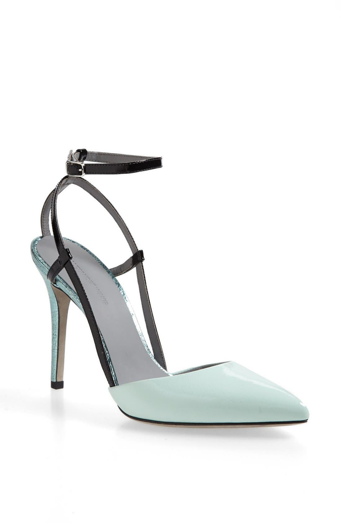 Alternate Image 1 Selected - Alexander Wang 'Jodie' Ankle Strap Calfskin Leather Pump