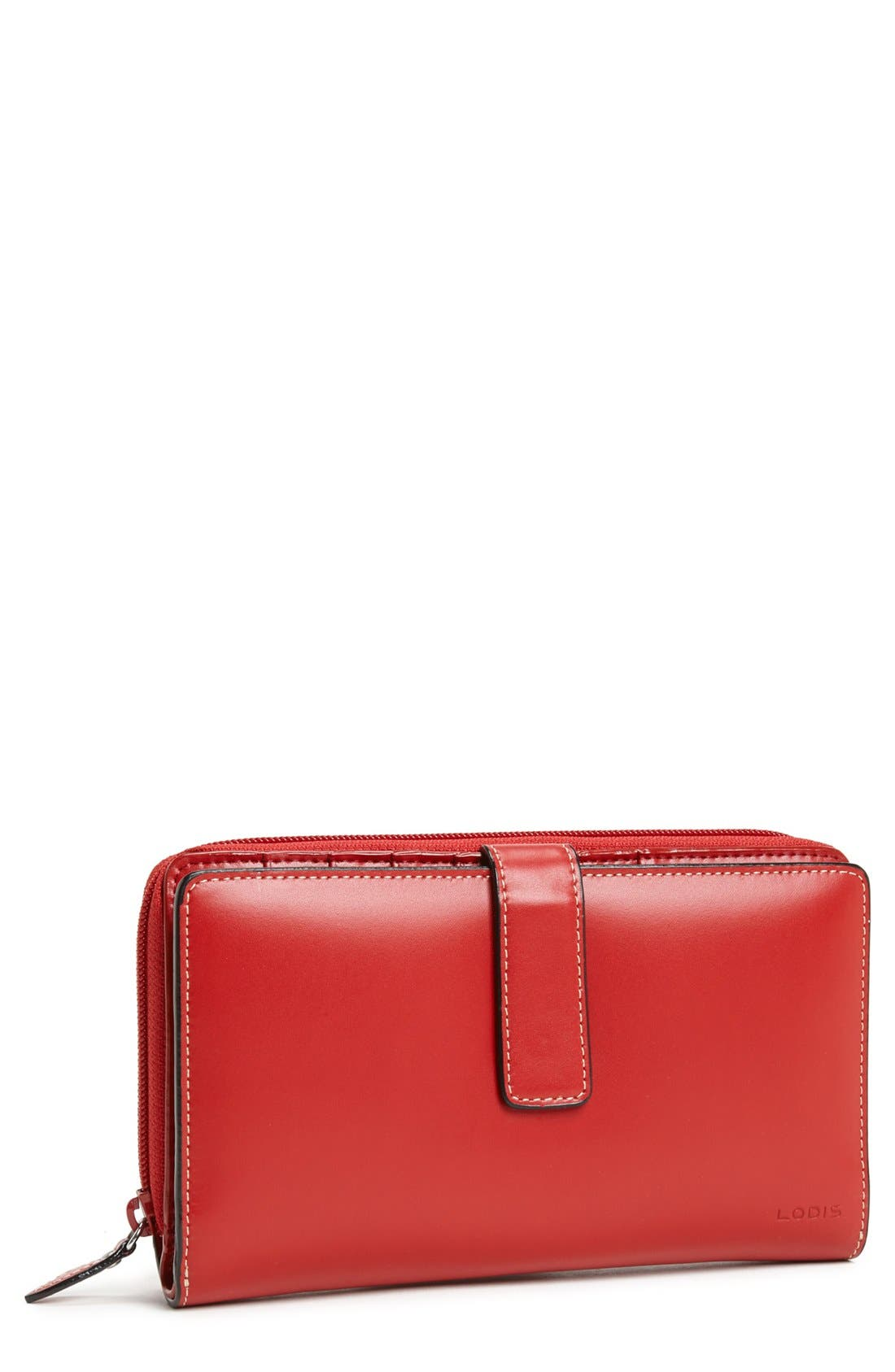 Main Image - Lodis 'Audrey - Deluxe' Checkbook Clutch Wallet