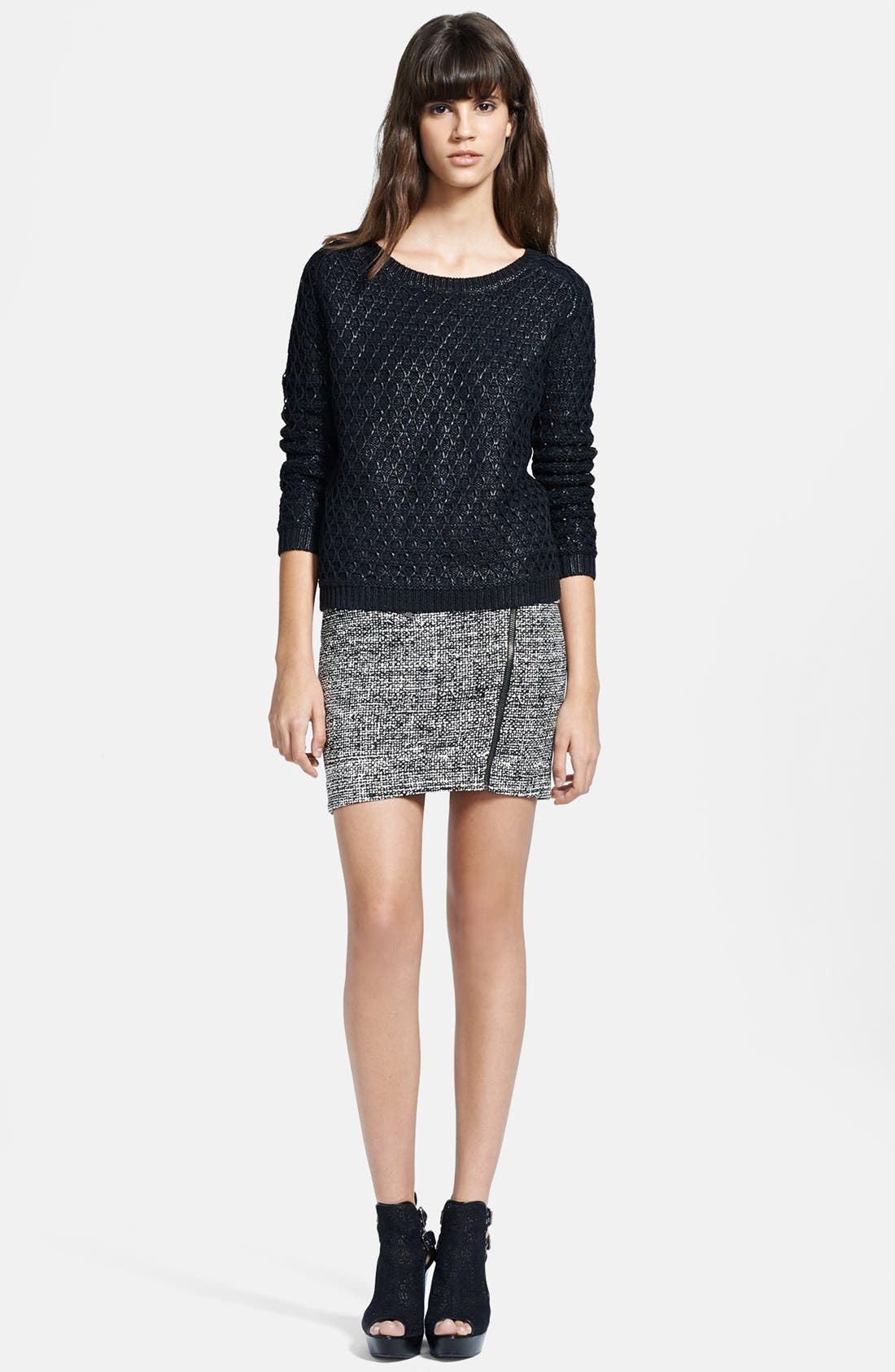 Alternate Image 3  - The Kooples Foiled Textured Sweater