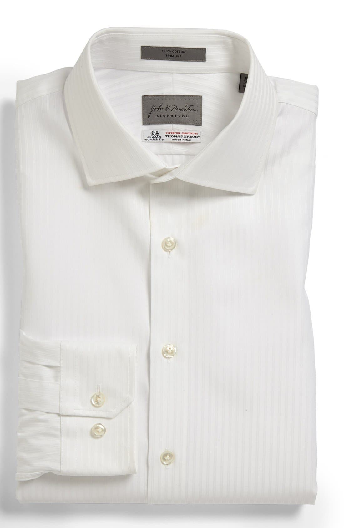 Main Image - John W. Nordstrom® Signature Trim Fit Stripe Dress Shirt