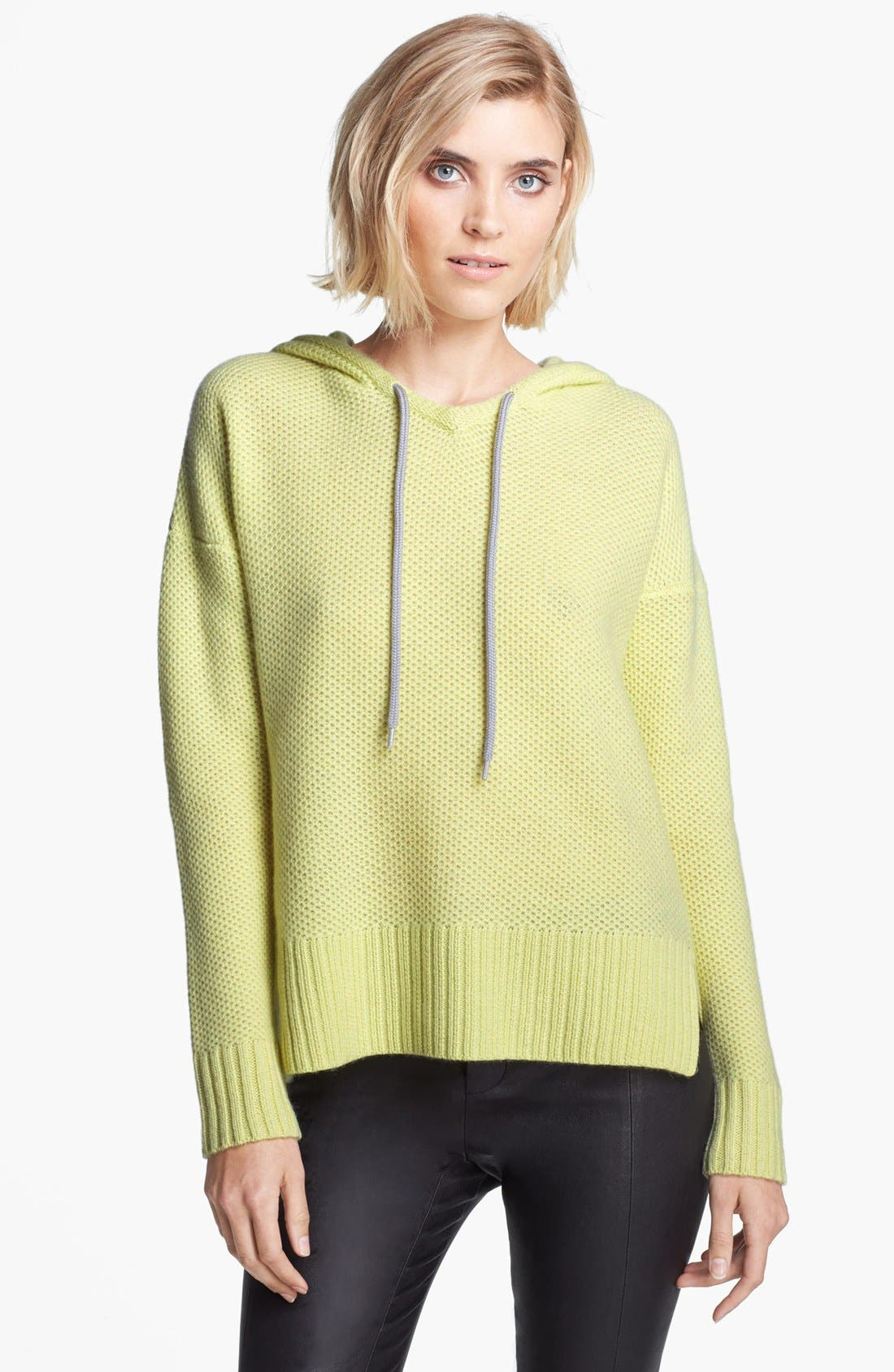 Alternate Image 1 Selected - autumn cashmere Honeycomb Stitch Cashmere Hoodie