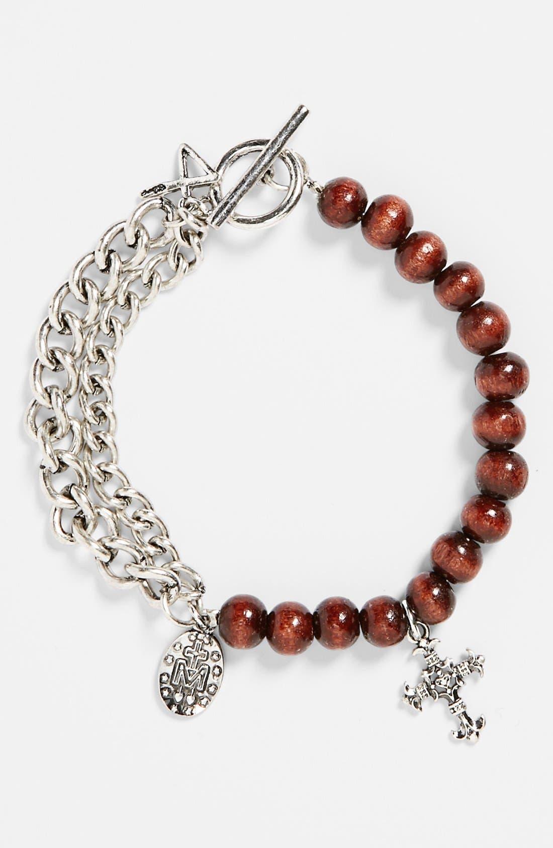Main Image - Talon Chain Beaded Charm Bracelet
