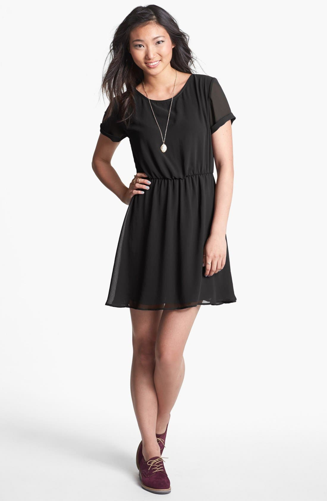 Alternate Image 2  - dee elle 'Milly' Chiffon Skater Dress (Juniors)