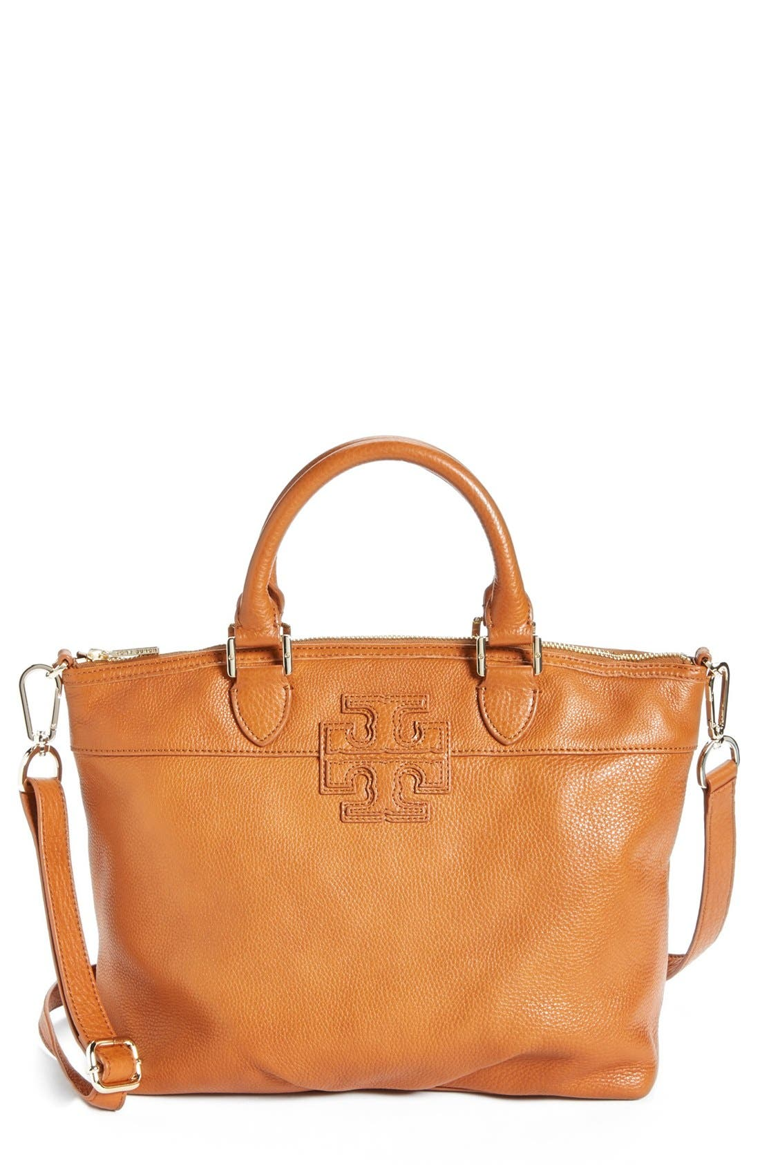 Alternate Image 1 Selected - Tory Burch 'Small Stacked T' Satchel