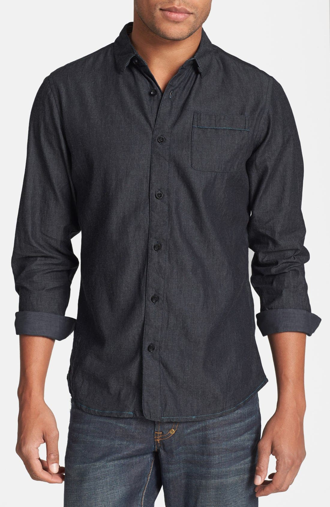 Alternate Image 1 Selected - Descendant of Thieves Chambray Denim Shirt