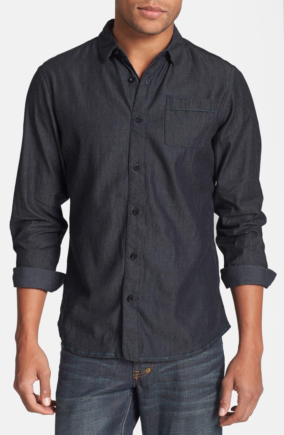 Main Image - Descendant of Thieves Chambray Denim Shirt