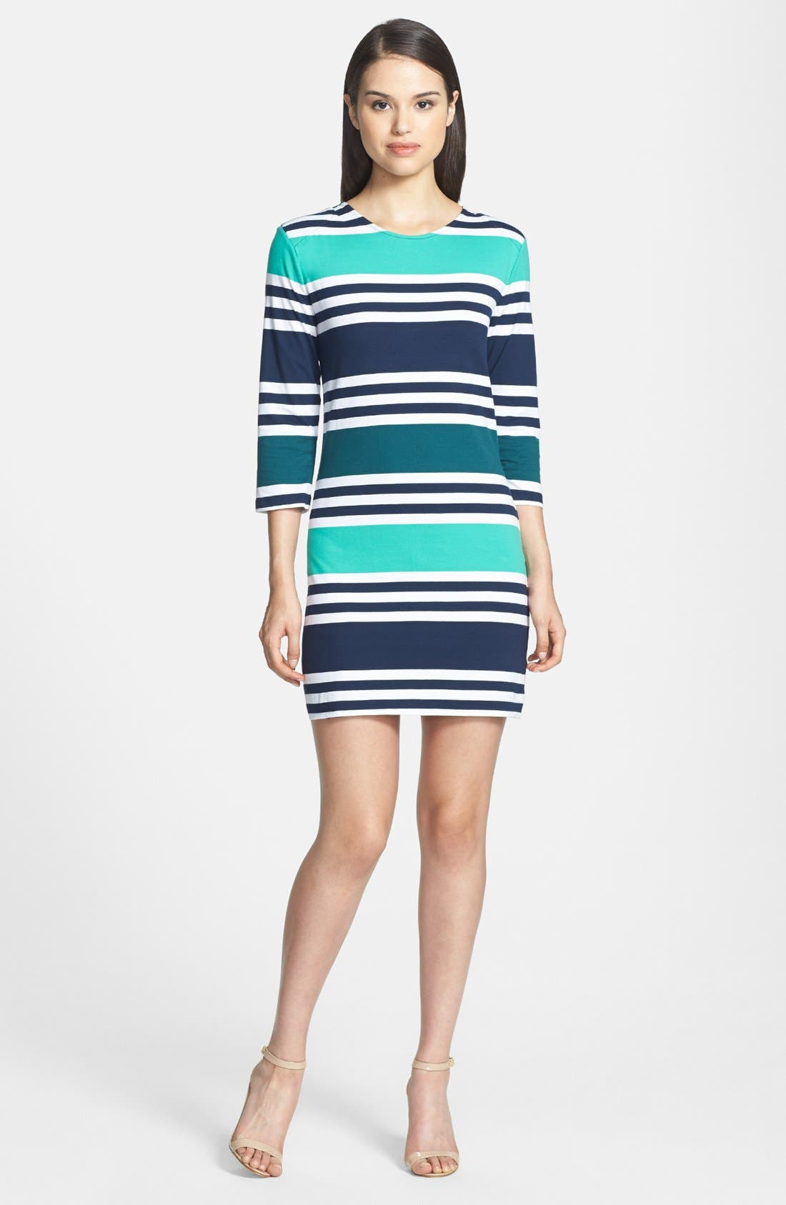 Alternate Image 2  - French Connection 'Jag' Multi Stripe Jersey Dress