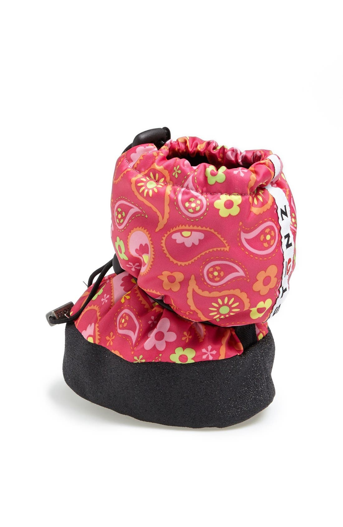 Alternate Image 2  - Stonz Paisley Pink Water Resistant Over-Shoe Bootie (Baby & Walker)