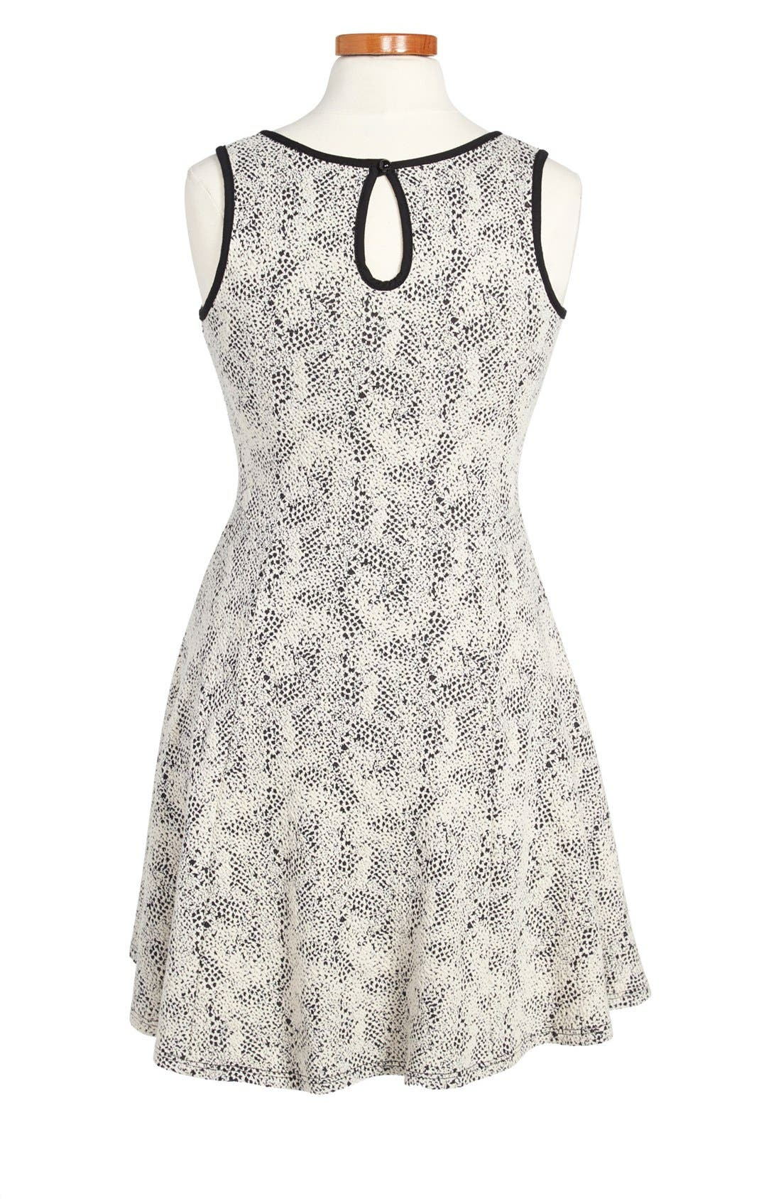Alternate Image 2  - Soprano Sleeveless Knit Skater Dress (Little Girls & Big Girls)