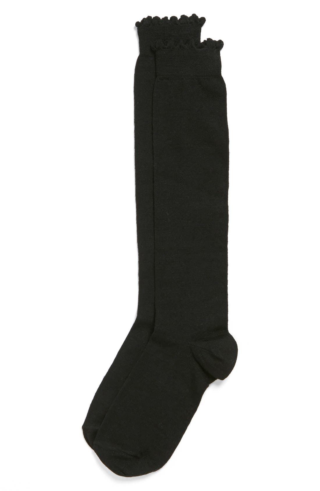 Alternate Image 2  - Nordstrom Flat Knit Merino Wool Knee High Socks