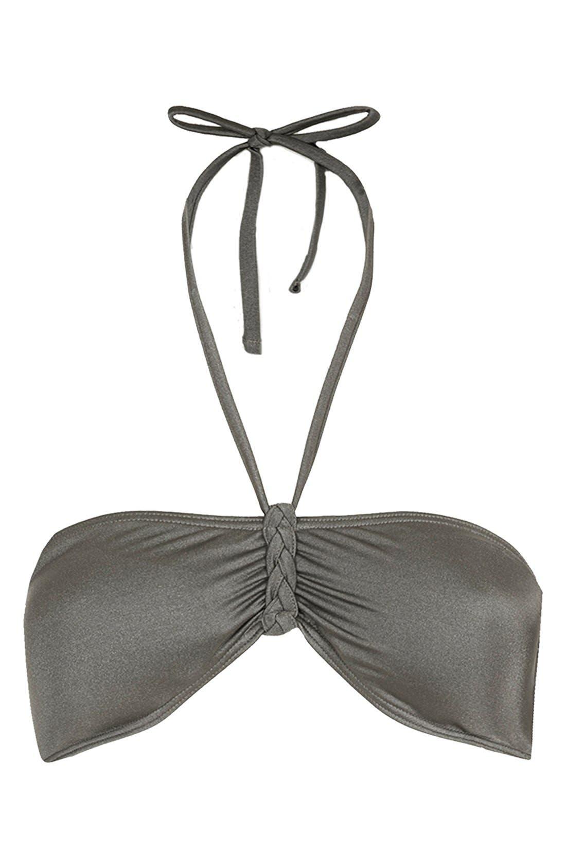 Main Image - Topshop 'Sophis Plait' Bandeau Bikini Top