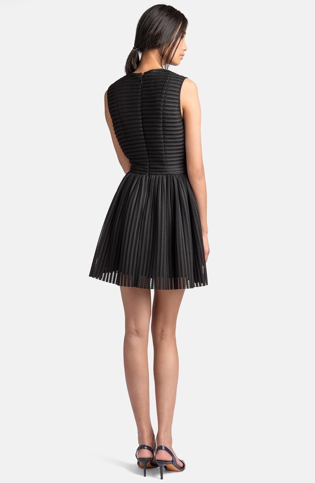 Alternate Image 2  - MSGM Beaded Yoke Full Skirt Dress