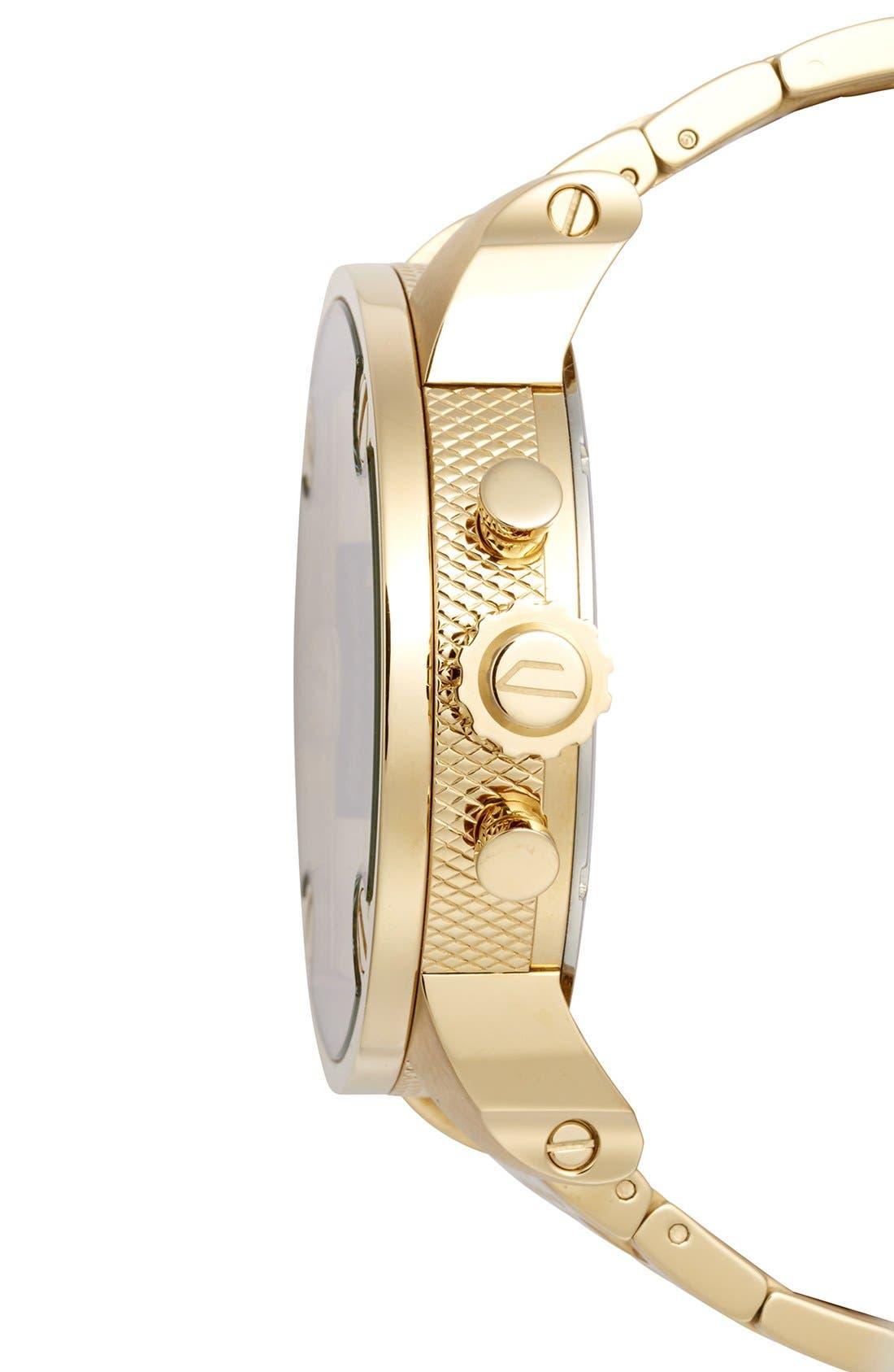 Alternate Image 3  - DIESEL® 'Little Daddy' Chronograph Bracelet Watch, 51mm