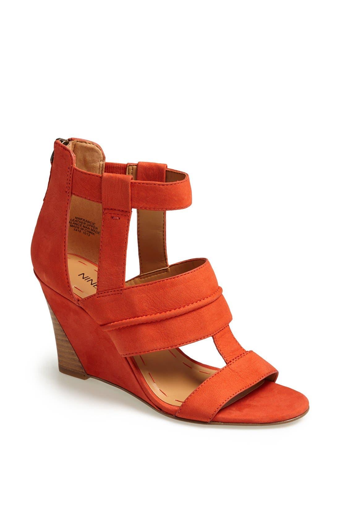 Alternate Image 1 Selected - Nine West 'Francie' Leather Sandal
