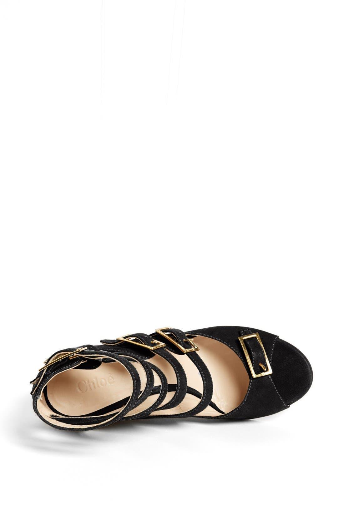 Alternate Image 3  - Chloé 'Arce' Multi Strap Wedge Sandal