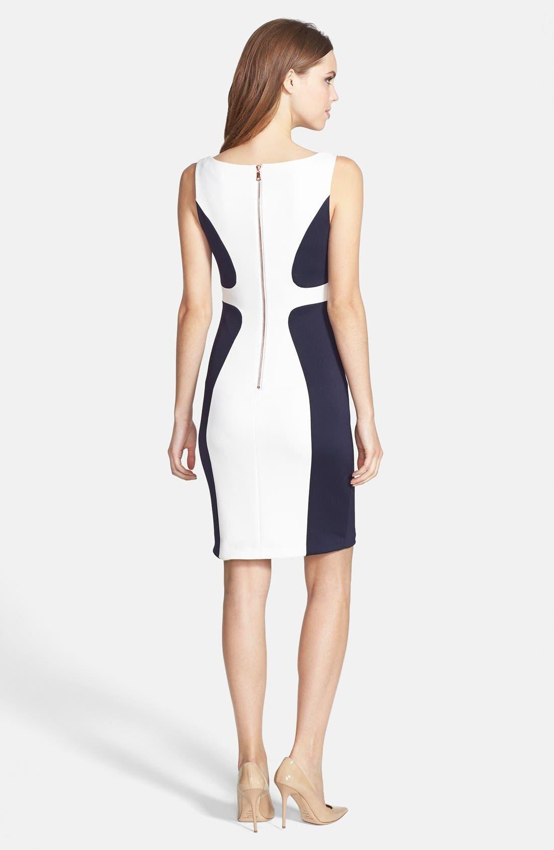 Alternate Image 2  - JAX Colorblock Scuba Dress